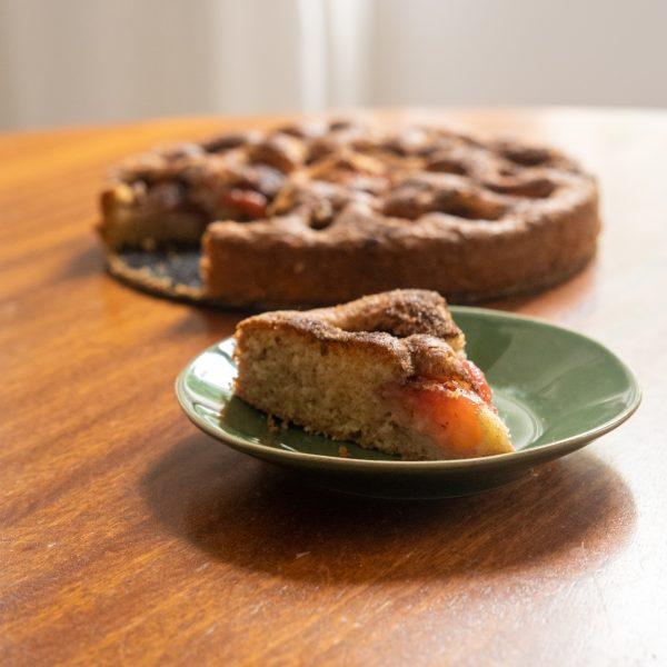 Cinnamon and Sugar Plum Cake